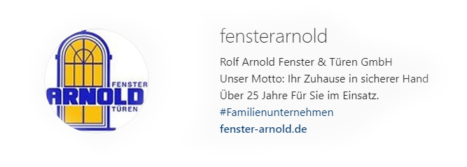 Fenster Arnold Instagram Screenshot